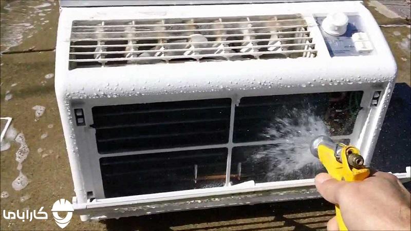 نحوه شستن پنل بیرونی کولر گازی