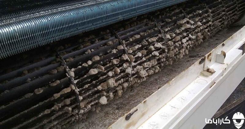 کم شدن پرتاب باد اسپیلت به دلیل کثیف شدن فیلترها