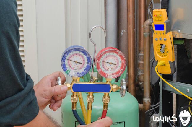 شستشوی سیکل کولر گازی به وسیله گاز ازت