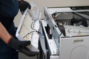 Replace the rubber washing machine door 6
