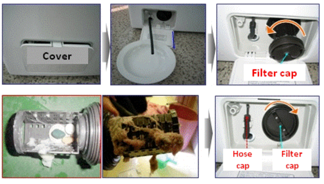 علت تخلیه نشدن اب ماشین لباسشویی