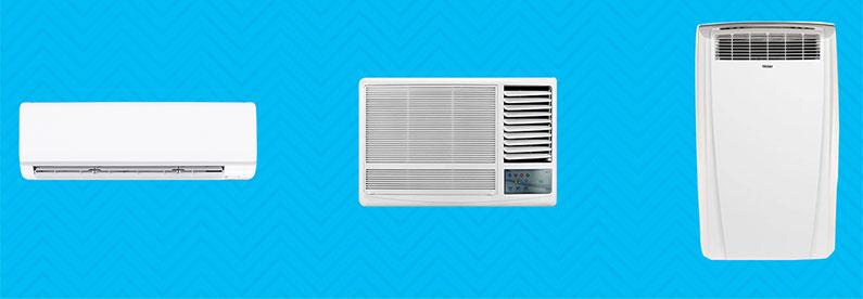 تفاوت کولر گازی اسپلیت ، قابل حمل و پنجره ای