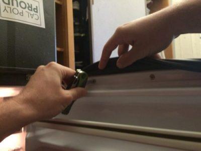 تعمیر و تعویض لاستیک دور درب یخچال قسمت سوم