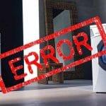 کد خطا یا ارور ماشین لباسششویی گرنیه