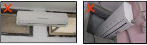 آموزش نصب کولر گازی اینورتر ال جی - محل نصب کولر گازی