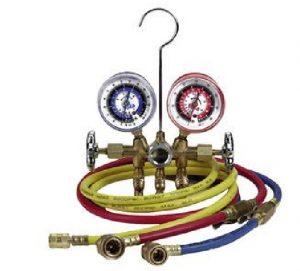گیج فشار کولر گازی با دو لوله فشار بالا و فشار پایین