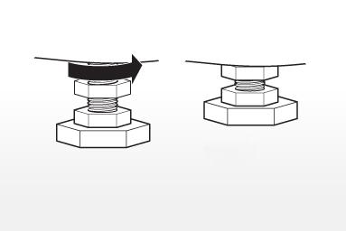 تنظیم پایه های پیچی ماشین لباسشویی