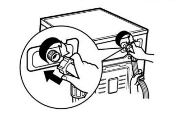 اتصال شیلنگ به پشت لباسشویی