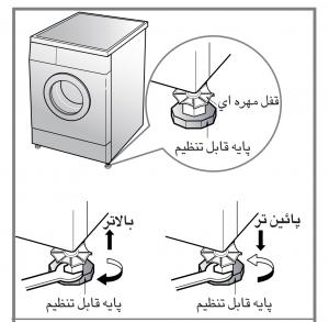 پیچ های تراز نمودن لباسشویی