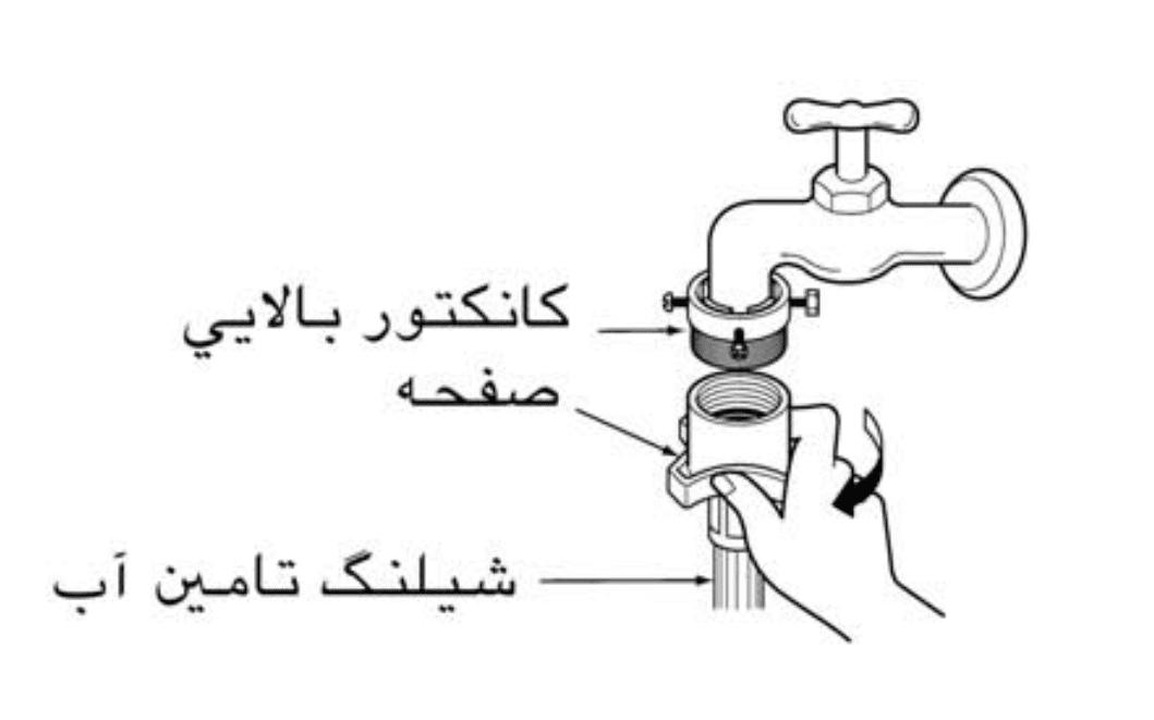 بستن شیلنگ به شیر آب
