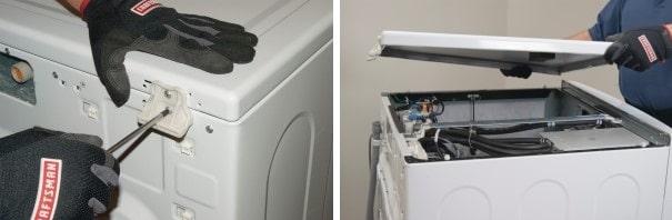 مراحل تعویض پمپ تخلیه ماشین لباسشویی 1