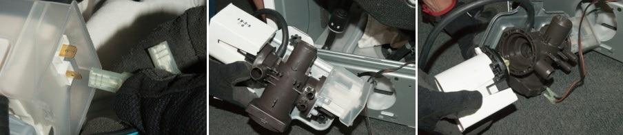 مراحل تعویض پمپ تخلیه ماشین لباسشویی 5