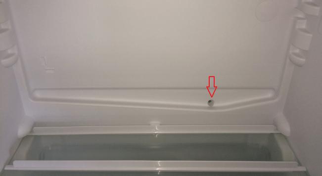 سوراخ تخلیه یخچال