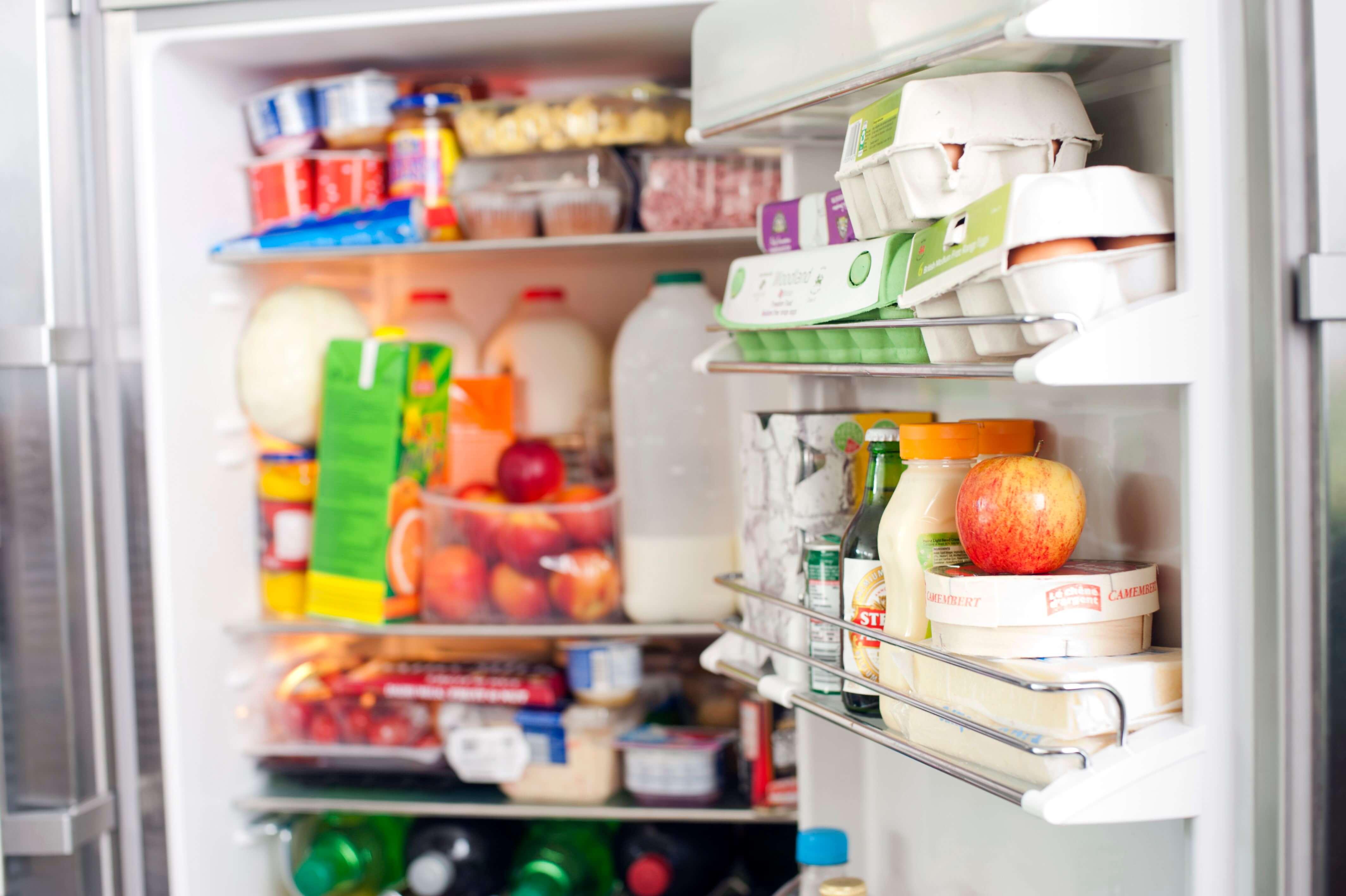 پر کردن درب یخچال