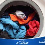 علت خشک نشدن لباس در لباسشویی