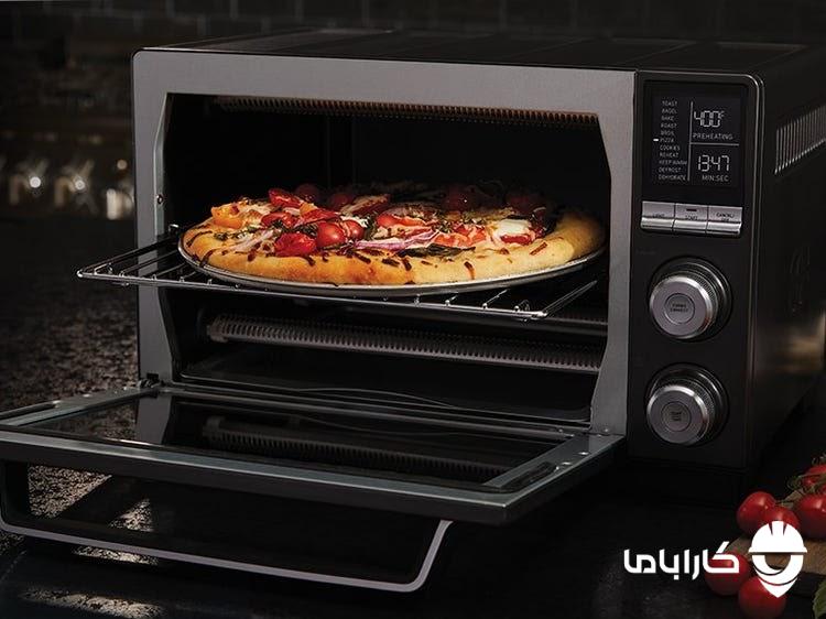 پحت پیتزا در مکروفر و مایکروفر
