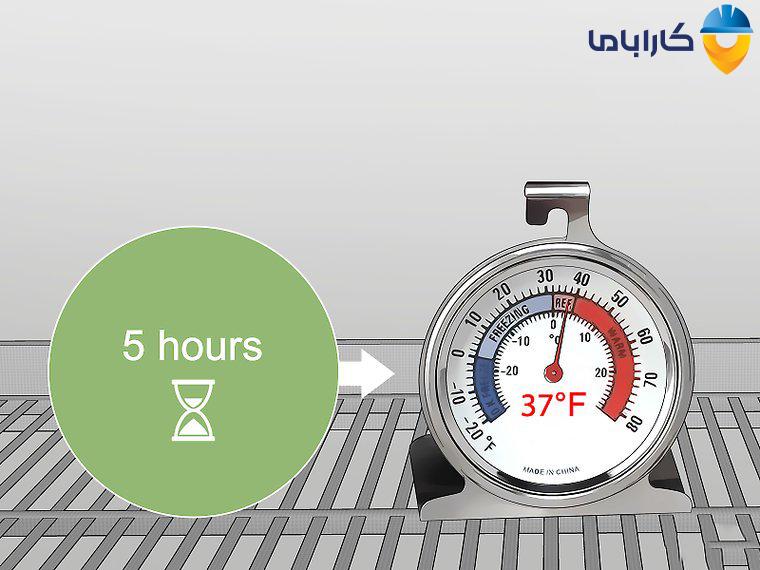تنظیم دمای یخچال با صفحه نمایش دیجیتال