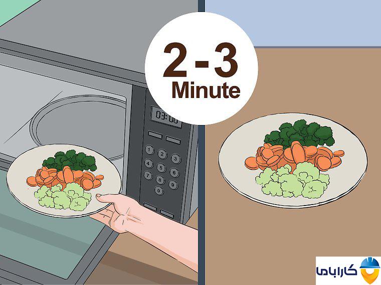 آموزش طرز کار با ماکروفر و ماکروویو- بخارپز کردن سبزیجات در ماکروفر