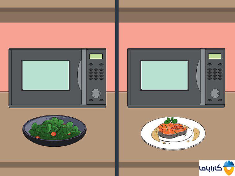 آموزش طرز کار با ماکروفر و ماکروویو- گرم کردن غذاها به صورت جداگانه