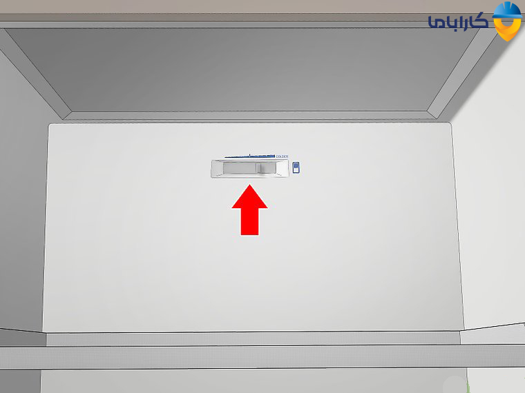 تنظیم دمای یخچال با تنظیم کننده کشویی