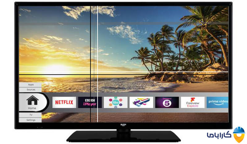 علت خطوط عمودی و افقی در صفحه تلویزیون