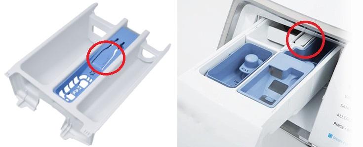 نحوه درآوردن جاپودری ماشین لباسشویی