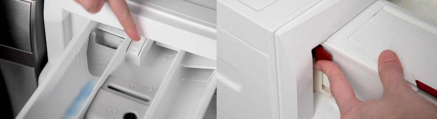 طرز خارج کردن جاپودری ماشین لباسشویی