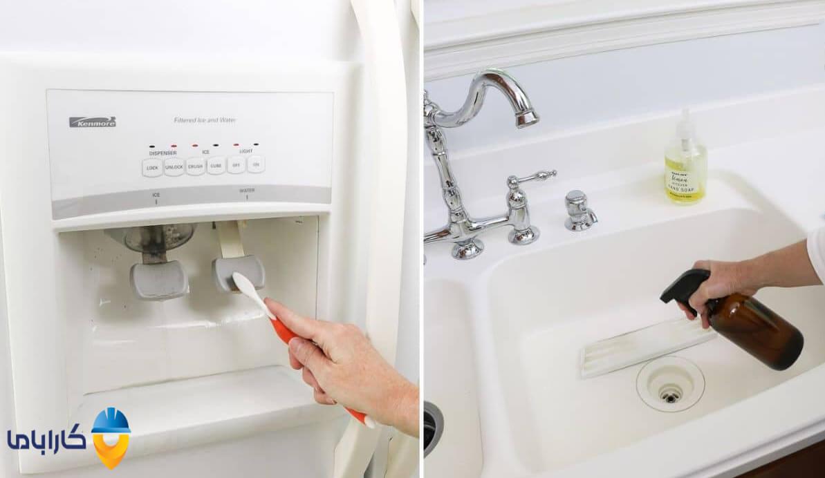 تمیز کردن آبسردکن یخچال