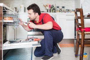 علت روشن شدن چراغ نمک ماشین ظرفشویی
