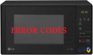 کد خطا یا ارور ماکروفر ال جی